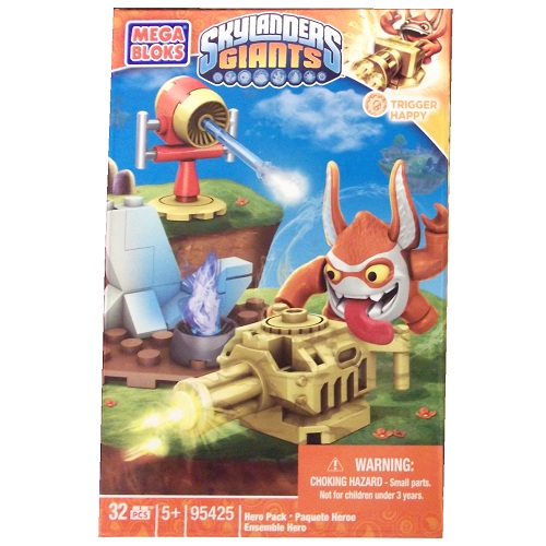 Skylanders GIANTS Mega Bloks Trigger Happy with Gantling Gun [Tech] Series 1 officially licensed Skylanders GIANTS Mega Bloks product at B.A. Toys.