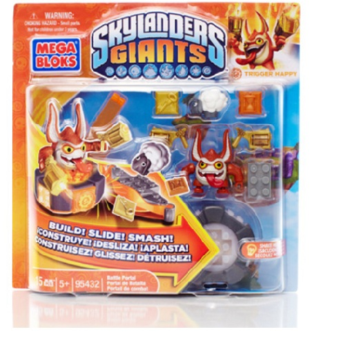 Skylanders GIANTS Mega Bloks Trigger Happy's Battle Portal Series 1 officially licensed Skylanders GIANTS Mega Bloks product at B.A. Toys.