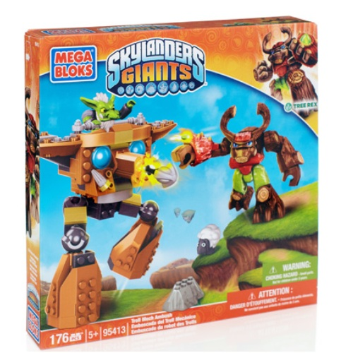Skylanders GIANTS Mega Bloks Troll Mech Ambush [Tree Rex*] officially licensed Skylanders GIANTS Mega Bloks product at B.A. Toys.