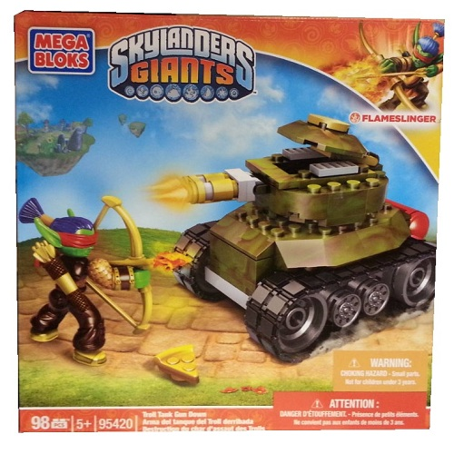 Skylanders GIANTS Mega Bloks Troll Tank Gun Down [Flameslinger - Fire] officially licensed Skylanders GIANTS Mega Bloks product at B.A. Toys.