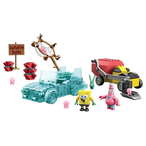 2014 Mega Bloks SpongeBob Squarepants Invisible Boatmobile Rescue officially licensed Mega Bloks SpongeBob Squarepants product at B.A. Toys.