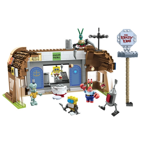 Mega Bloks SpongeBob Squarepants Krusty Krab Attack officially licensed Mega Bloks SpongeBob Squarepants product at B.A. Toys.