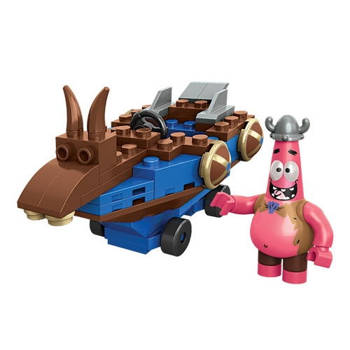 2014 Mega Bloks SpongeBob Squarepants Patrick Racer is an officially licensed, authentic Mega Bloks SpongeBob Squarepants product at B.A. Toys featuring Patrick Racer by Mega Bloks SpongeBob Squarepants