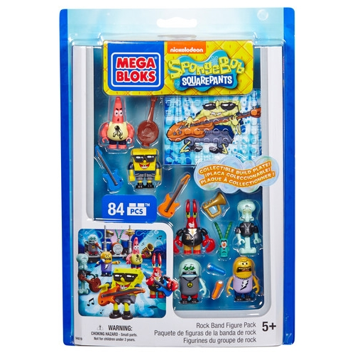 Mega Bloks SpongeBob Squarepants Rock Band Figure Pack officially licensed Mega Bloks SpongeBob Squarepants product at B.A. Toys.