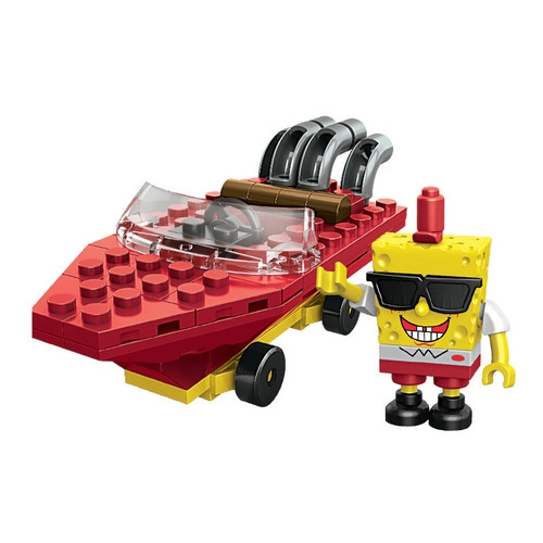 Mega Bloks SpongeBob Squarepants SpongeBob Racer officially licensed Mega Bloks SpongeBob Squarepants product at B.A. Toys.