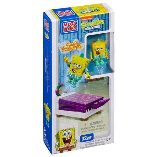 2014 Mega Bloks SpongeBob Squarepants SpongeBob Wacky Pack officially licensed Mega Bloks SpongeBob Squarepants product at B.A. Toys.
