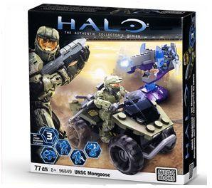 Halo Mega Bloks UNSC Mongoose officially licensed Halo Mega Bloks product at B.A. Toys.