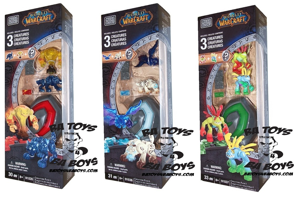 Warcraft Mega Bloks Creature Collectibles Series 1 Set of 3 is an officially licensed, authentic Warcraft Mega Bloks product at B.A. Toys featuring Creature Collectibles Series 1 Set of 3 by Warcraft Mega Bloks