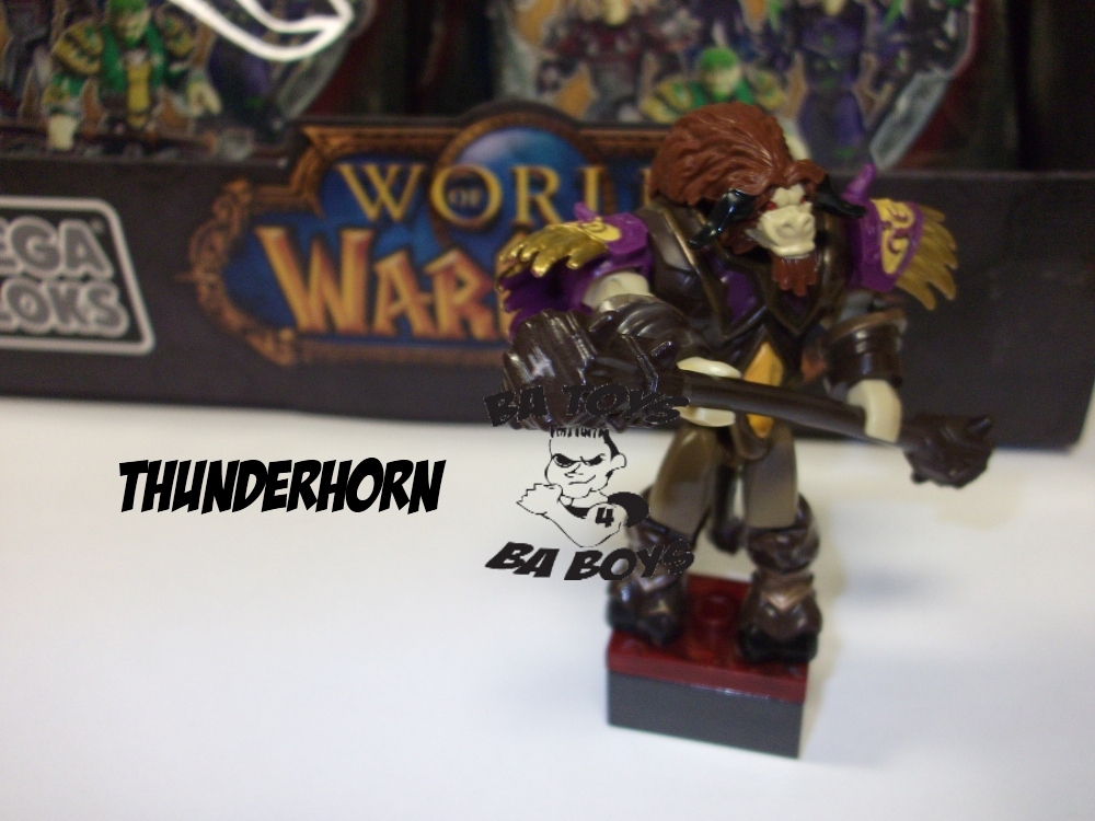Warcraft Mega Bloks Thunderhorn Minifigure is an officially licensed, authentic Warcraft Mega Bloks product at B.A. Toys featuring Thunderhorn Minifigure by Warcraft Mega Bloks