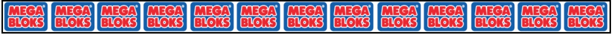Mega Bloks logo repeated on banner.