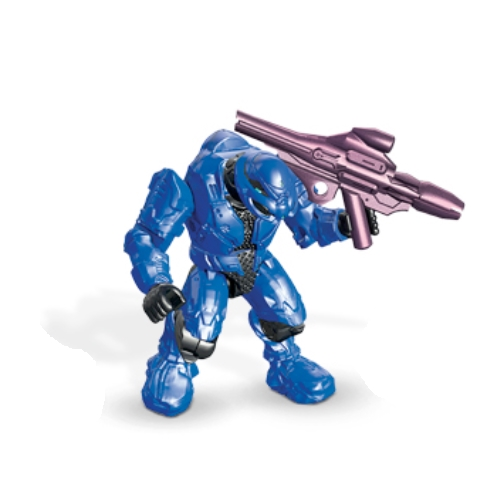 Mega Bloks Halo Covenant Elite [Blue] Commando & PLASMA LAUNCHER Loose Micro Action Figure officially licensed Mega Bloks Halo product at B.A. Toys.