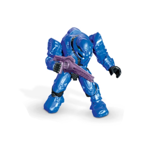 Mega Bloks Halo Covenant Elite [Blue] Commando & FOCUS RIFLE Loose Micro Action Figure officially licensed Mega Bloks Halo product at B.A. Toys.