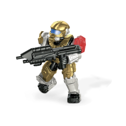 Mega Bloks Halo UNSC Spartan Hazop & Assault Rifle [Gold] Loose Mini Figure officially licensed Mega Bloks Halo product at B.A. Toys.