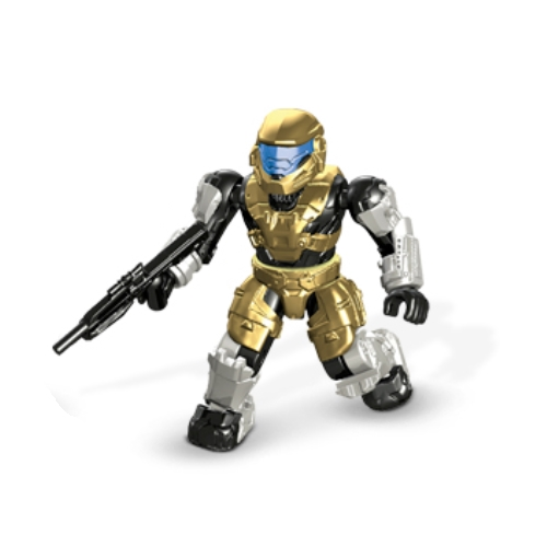 Mega Bloks Halo UNSC Spartan Mark V(B) & Battle Rifle [Gold] Loose Mini Figure officially licensed Mega Bloks Halo product at B.A. Toys.