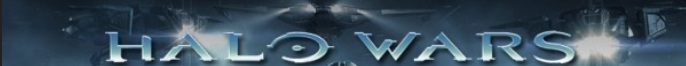 Halo Wars Toy Banner with 4 spotlights shining on Halo Wars