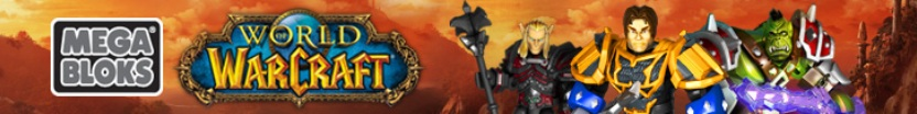 Banner featuring figures from Mega Bloks Warcraft.