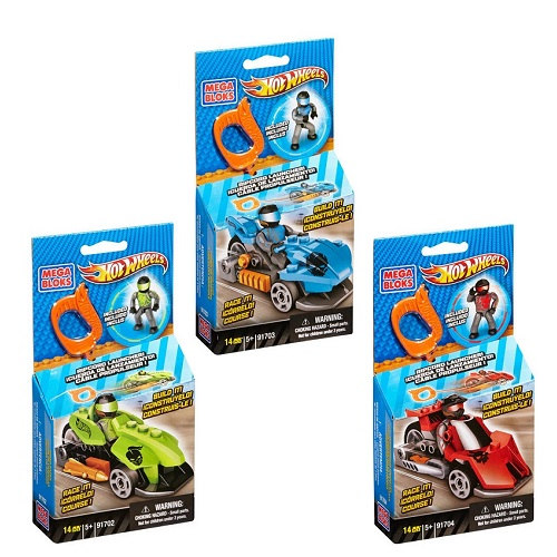Hot Wheels Mega Bloks Hot Wheels Ripcord Racers Asst [1 Each: 91702,91703,91704] officially licensed Hot Wheels Mega Bloks product at B.A. Toys.