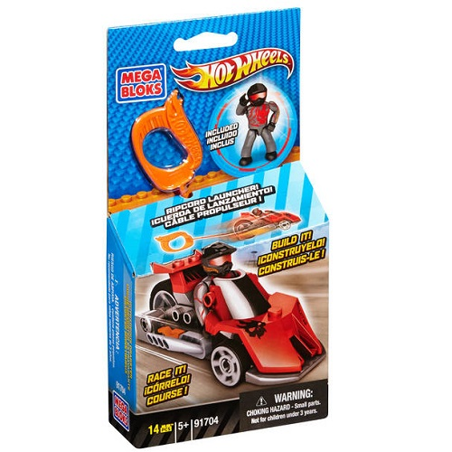 Hot Wheels Mega Bloks HW Outrageous Dragster [Red Ripcord Racer] officially licensed Hot Wheels Mega Bloks product at B.A. Toys.