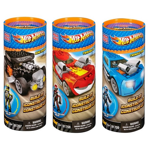Hot Wheels Mega Bloks Hot Wheels Tubes Asst. [1 Each: 91707,91708,91709] officially licensed Hot Wheels Mega Bloks product at B.A. Toys.
