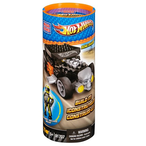 Hot Wheels Mega Bloks HW Bone Shaker [Yellow Tube] officially licensed Hot Wheels Mega Bloks product at B.A. Toys.