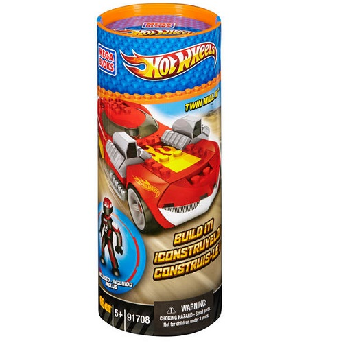 Hot Wheels Mega Bloks HW Twin Mill III [Red Tube] officially licensed Hot Wheels Mega Bloks product at B.A. Toys.