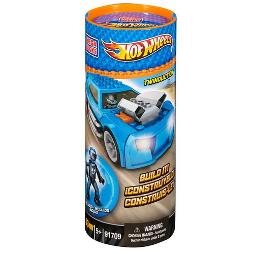Hot Wheels Mega Bloks HW Twinduction [Blue Tube] officially licensed Hot Wheels Mega Bloks product at B.A. Toys.
