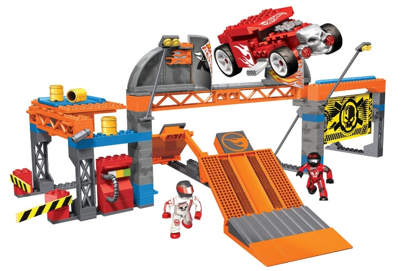 Hot Wheels Mega Bloks Hot Wheels Super Stunt Test Facility officially licensed Hot Wheels Mega Bloks product at B.A. Toys.
