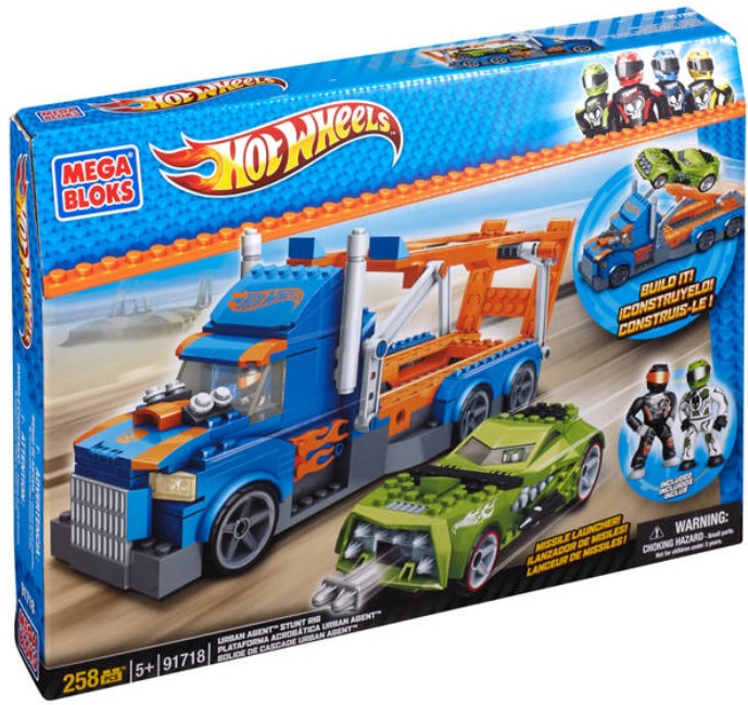 Hot Wheels Mega Bloks Hot Wheels Urban Agent Launch Rig officially licensed Hot Wheels Mega Bloks product at B.A. Toys.