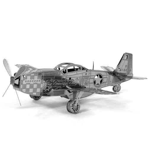 Metal Earth Mustang P-51 Special Order Ships 2-4 Weeks officially licensed Metal Earth product at B.A. Toys.