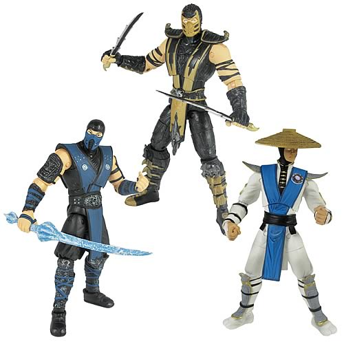 Mortal Kombat Mortal Kombat 9 6-Inch Action Figures Wave 1 Set of 3 officially licensed Mortal Kombat product at B.A. Toys.