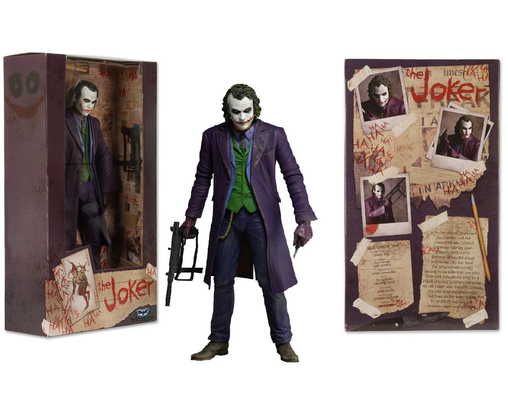 Neca The Dark Knight JOKER 1/4 Scale Action Figure [18 inch] is an officially licensed, authentic Batman The Dark Knight product at B.A. Toys featuring Neca Joker 1/4 Scale Action Figure by Batman The Dark Knight
