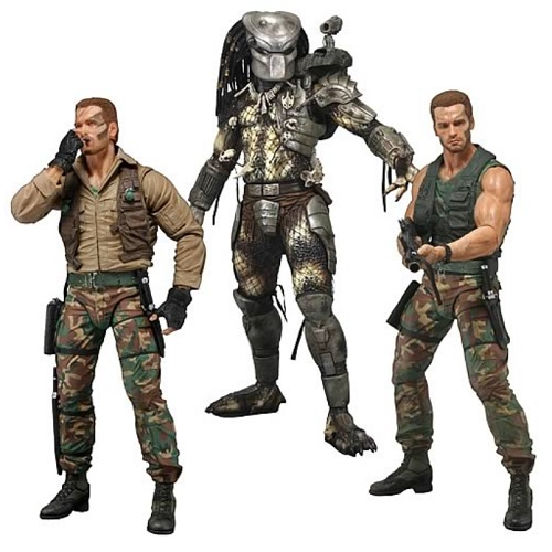 Predator Series 8 Action Figure Set [Jungle Extraction Dutch, Jungle Hunter & Jungle Patrol Dutch] officially licensed Predator product at B.A. Toys.