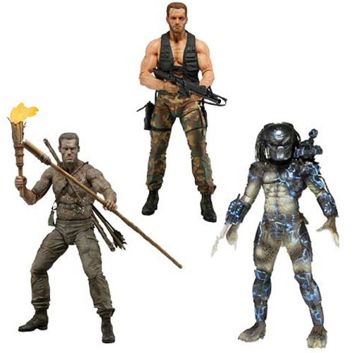 Predator Series 9 Action Figure Set [Water Emergence Predator, Jungle Disguise Dutch & Encounter Dutch] officially licensed Predator product at B.A. Toys.