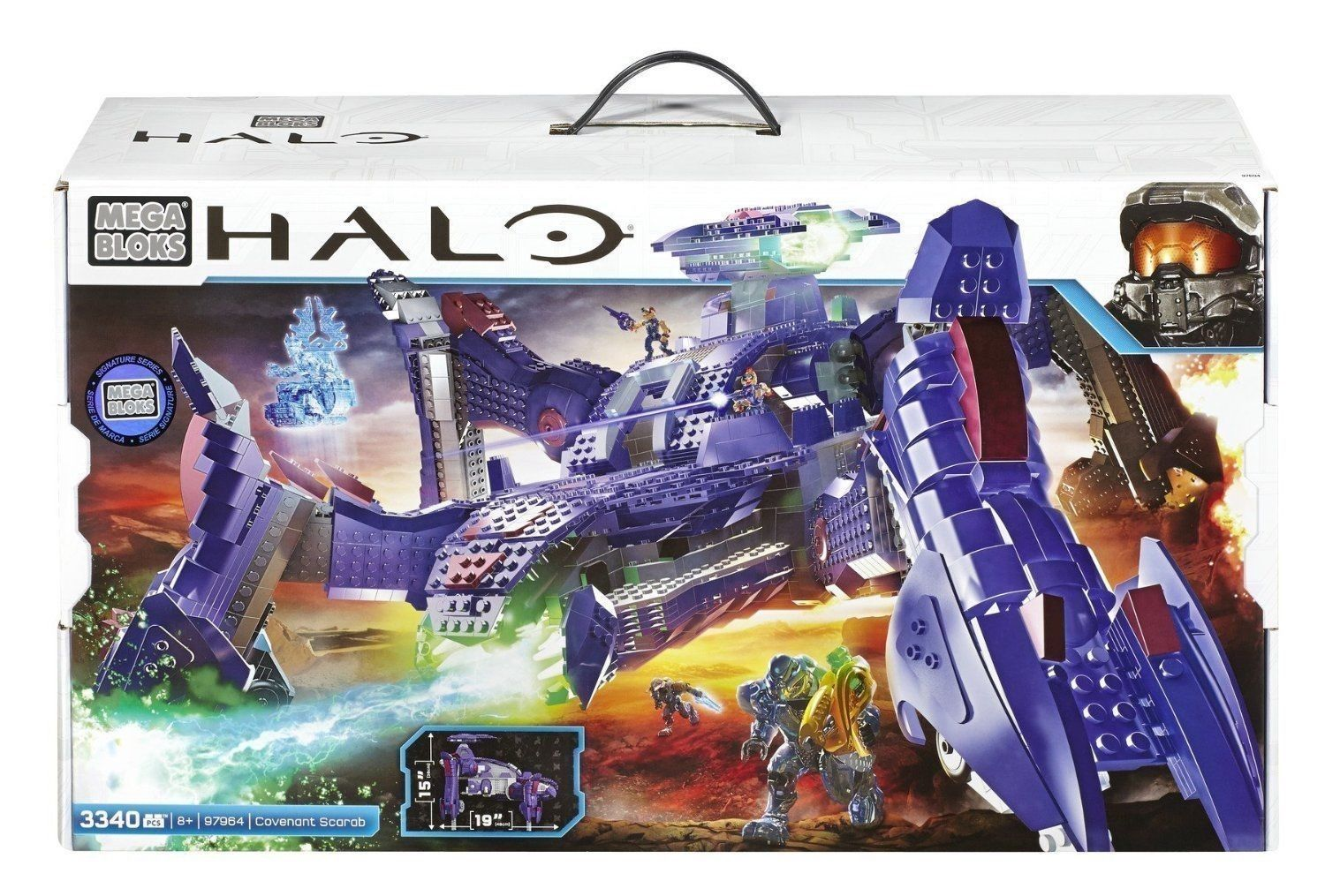 Covenant Scarab officially licensed Mega Bloks Halo product at B.A. Toys.