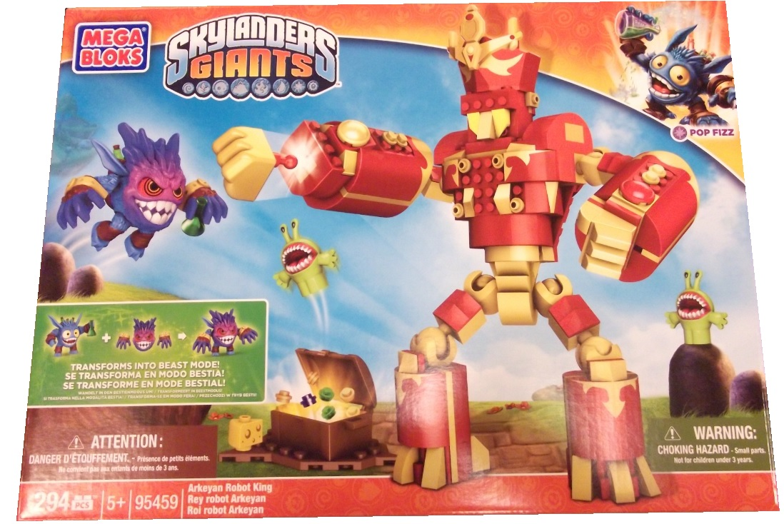 Mega Bloks Skylander's GIANTS Arkeyan Robot King is an officially licensed, authentic Mega Bloks Skylander's GIANTS product at B.A. Toys featuring Arkeyan Robot King by Mega Bloks Skylander's GIANTS