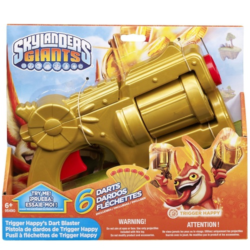 Mega Skylander's GIANTS Roleplay Trigger Happy's Dart Blaster is an officially licensed, authentic Mega Skylander's GIANTS Roleplay product at B.A. Toys featuring Trigger Happy's Dart Blaster by Mega Skylander's GIANTS Roleplay