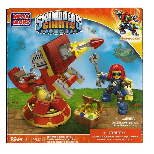 Mega Bloks Skylander's Giants Sprocket's Heroic Turret officially licensed Mega Bloks Skylander's Giants product at B.A. Toys.