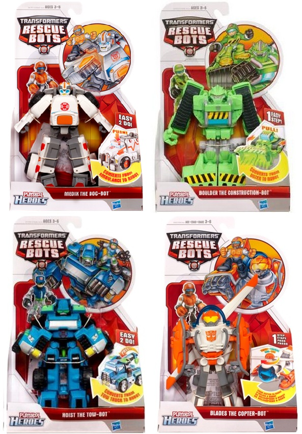 Transformers Rescue Bots Rescue Bots Series 5 Set of 4 officially licensed Transformers Rescue Bots product at B.A. Toys.