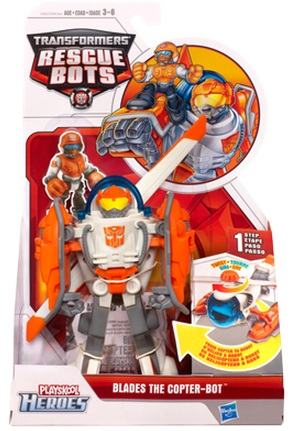 Transformers Rescue Bots Blades the Copter Bot officially licensed Transformers Rescue Bots product at B.A. Toys.