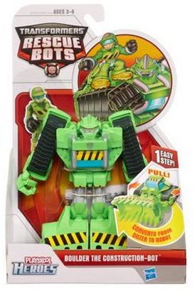 Transformers Rescue Bots Boulder the Construction Bot officially licensed Transformers Rescue Bots product at B.A. Toys.