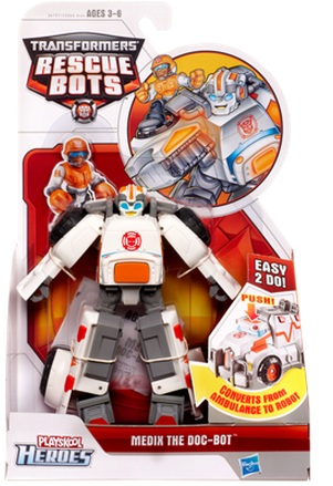 Transformers Rescue Bots Medix the Doc Bot officially licensed Transformers Rescue Bots product at B.A. Toys.