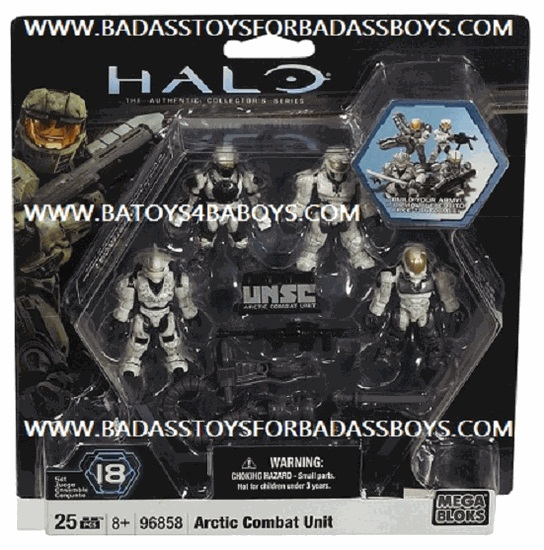 Halo Mega Bloks UNSC Arctic Combat Unit officially licensed Halo Mega Bloks product at B.A. Toys.