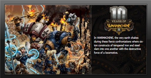 Privateer Press WarMachine table top war machine game.
