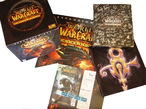 Blizzard World of Warcraft Autographed Collector Cataclysm Bundle Developer Team Signed officially licensed Blizzard World of Warcraft product at B.A. Toys.