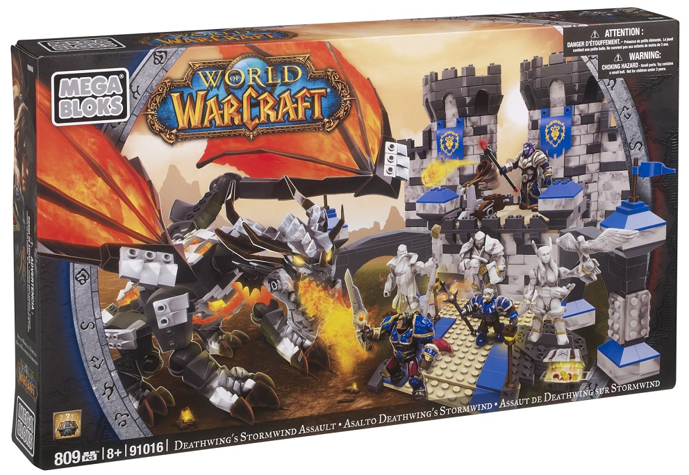 Warcraft Mega Bloks Deathwing's Stormwind Assault is an officially licensed, authentic Warcraft Mega Bloks product at B.A. Toys featuring Deathwing's Stormwind Assault by Warcraft Mega Bloks