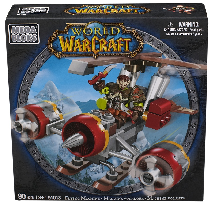Warcraft Mega Bloks Gnome Rogue with Flying Machine officially licensed Warcraft Mega Bloks product at B.A. Toys.