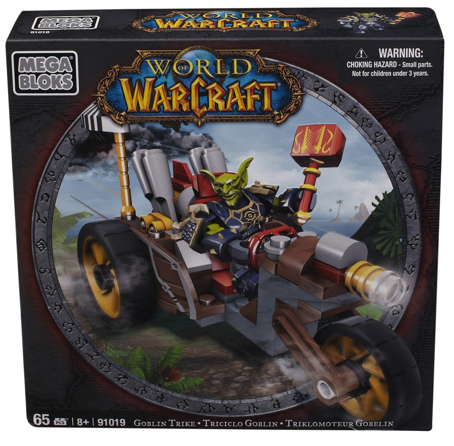 Warcraft Mega Bloks Goblin Warrior with Goblin Trike is an officially licensed, authentic Warcraft Mega Bloks product at B.A. Toys featuring Goblin Warrior with Goblin Trike by Warcraft Mega Bloks