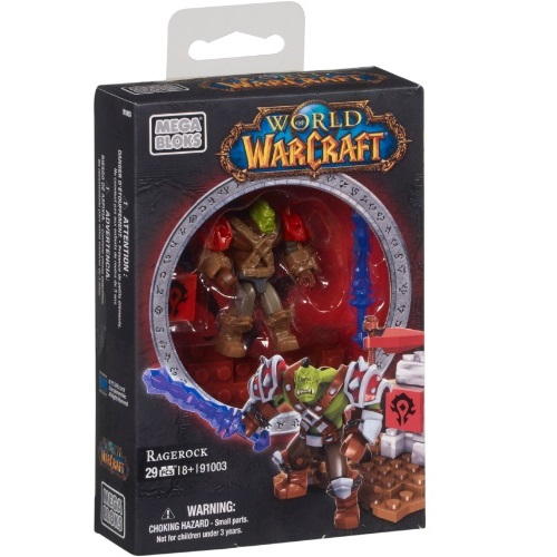 Warcraft Mega Bloks Orc Warrior Ragerock Faction Pack is an officially licensed, authentic Warcraft Mega Bloks product at B.A. Toys featuring Orc Warrior Ragerock Faction Pack by Warcraft Mega Bloks