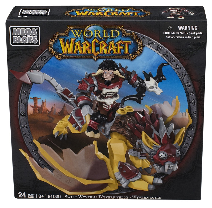 Warcraft Mega Bloks Tauren Hunter with Swift Wyvern is an officially licensed, authentic Warcraft Mega Bloks product at B.A. Toys featuring Tauren Hunter with Swift Wyvern by Warcraft Mega Bloks