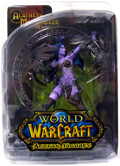 DC Direct World of Warcraft Night Elf Hunter-Alathena Moonbreeze with Sorna officially licensed DC Direct World of Warcraft product at B.A. Toys.
